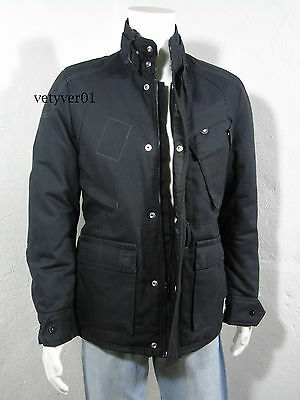 NWT G-STAR Raw Sandhurst Military/Field Padded Duck Canvas Jacket Black size M