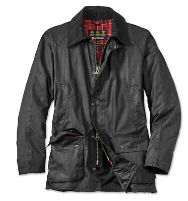 BARBOUR Military/Field Sylkoil Waxed Cotton Tailored Ashby Jacket Black size XXL