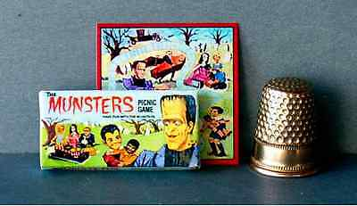 Dollhouse Miniature 1:12 Munsters Picnic Game 1960s dollhouse Haunted House