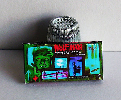 Dollhouse Miniature 1:12  Wolf Man Mystery Game  1960s haunted house game toy