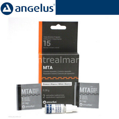 DENTAL White MTA Angelus Endodontic Cement 0.14gm x 3 Reparative Cement BEST BUY