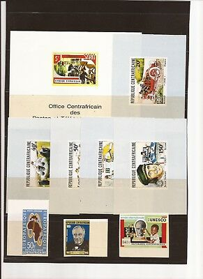 AFRICA(Central African Republic)- 5 set- all in unlisted imperf variety ( nice)
