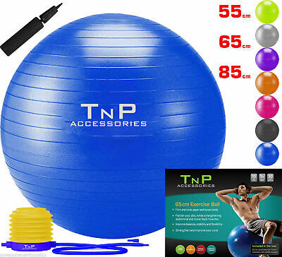 Exercise Gym Yoga Swiss Ball Fitness Pregnancy Birthing Anti Burst + Foot Pump