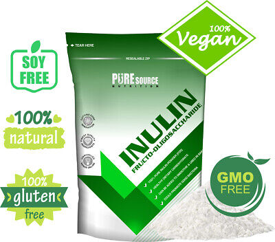 Pure Source Nutrition Pure 100% Inulin Powder Unflavoured 250g / 500g / 750g 1kg
