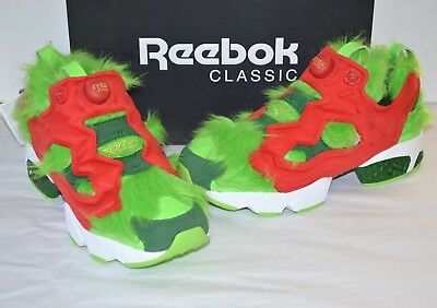 2d4721110b7 New Reebok InstaPump Fury CV The Grinch Pump Semi Solar Green Scarlet Red  10.5