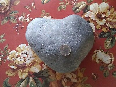Large Perfect Naturally Formed Heart Shaped Beach Rock Wedding Gift Love 224