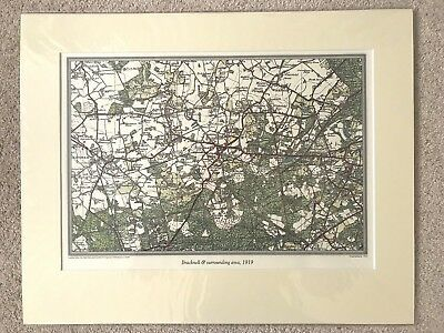Ordnance Survey Antique Map Print - Bracknell, Berkshire w/Mount 50cm x 40cm