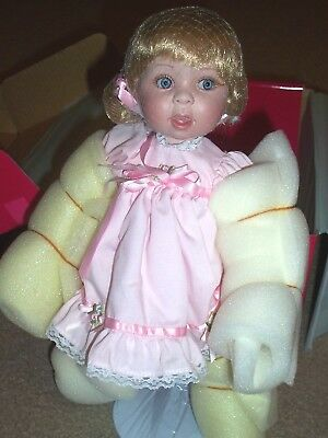 "NEW ~""Whoa"" Babys First Step Porcelain Doll by Marie Osmond ~NRFB~Voice Box~Cute"