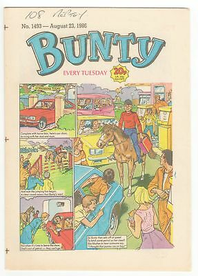 Bunty Comic - No 1493 - AUGUST 23 1986 - LOVELY CLEAN COPY!!