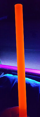 "1 1//4"" DIAMETER 12"" INCH LONG ORANGE ACRYLIC FLUORESCENT PLASTIC COLOR ROD CLEAR"