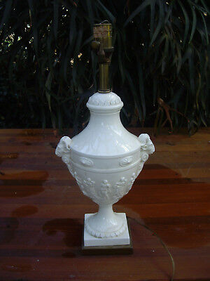 Vintage Antique Italian neoclassic style classic figures goats head urn Lamp