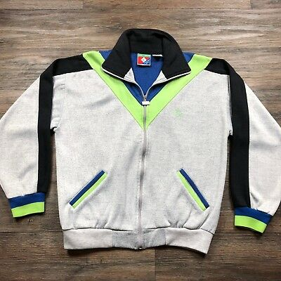 7b23c48ccea VTG Jimmy Connors X Slazenger Tennis Warm Up Track Jacket Color Block L H77