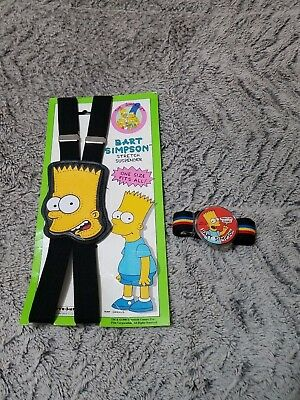 1990 Rare Bart Simpson The Simpsons Boy Suspenders with Belt New with Tags