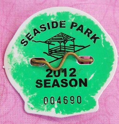 2012 Season Beach Badge Tag SEASIDE PARK NEW JERSEY NJ