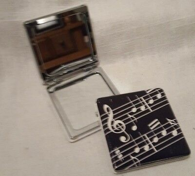 Mirror Compact With Music Note Design