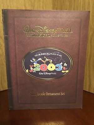 Disney World The Magical Place to Be 2003 StoryBook Christmas Ornament Set