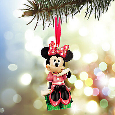 2015 Minnie Mouse Sketchbook Ornament Resin Disney Store New in Box