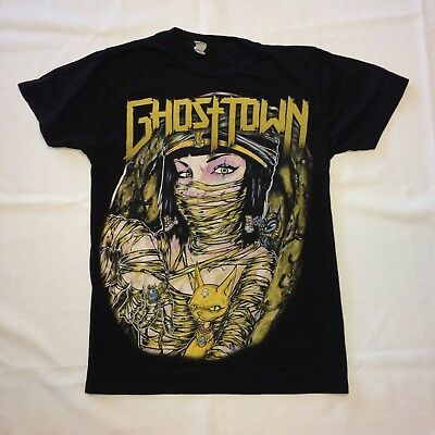 GHOST TOWN Mens XS extra small t-shirt tee music concert tour band guitar rock