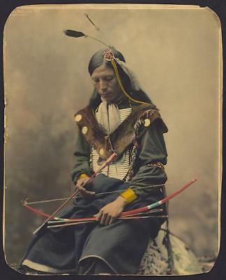 Photo: Bone Necklace,Council Chief,Oglala Sioux,clothing,c1899