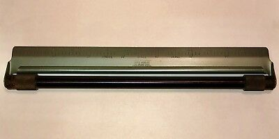 VTG ROLL-A-LINER METAL ROLLING PARALLEL RULER Single Space Scale PICA ELITE TYPE