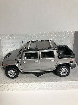 1:27 Maisto Special Edition AM General Motors Hummer H2 in Silver - Item #31233