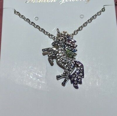"Unicorn Pendant Necklace with 18"" Chain  NEW Stocking Stuffer"