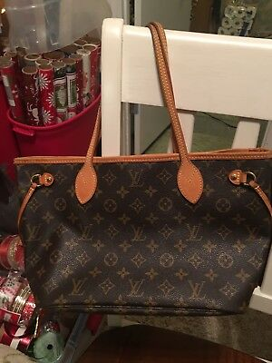 953356c9512f Authentic EUC LOUIS VUITTON M40155 Monogram Neverfull PM Tote Bag  Used