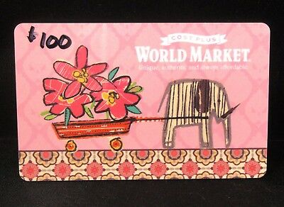 COST PLUS WORLD MARKET $100.00 Gift Card + FREE 1ST CLASS SHIPPING