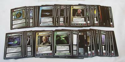 Lot of ~130 Star Trek TNG The Next Generation Collectible Cards CCG Set