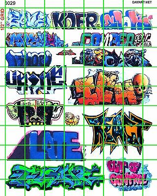 6029 Ho 1:87 Scale Decals Colorful Urban Graffiti Train Boxcars Subways Walls