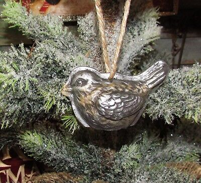Primitive Antique Vtg Style Christmas Tree Bird Resin Chocolate Mold Ornament