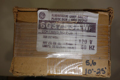 6G 3753 AWF  GE VALMONT magnetic sign Ballast 5 to 6 Lamp Sign Ballast, 120V