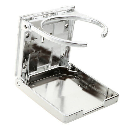 2Folding Water Drink Cup Holder Marine Boat Truck Pool Foosball Table Silver