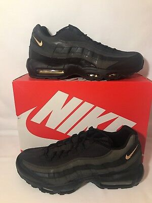 new product 27aa8 436a4 Nike Air Max 95 Premium SE, Black Metallic Gold  Men s Sz 13 (