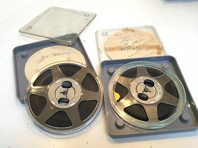 2 * 8mm FILM CINE REELS - REEL & CANS INCLUDES FILM