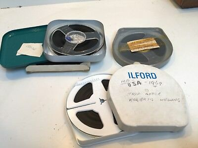 3 * 8mm FILM CINE REELS - REEL & CANS INCLUDES FILM
