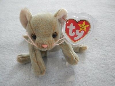 SCAT the CAT - TY BEANIE BABY - KITTEN - MAY 27 BIRTHDAY - SMILING VERSION 76210060623e