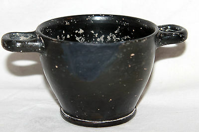 ANCIENT GREEK POTTERY SKYPHOS 4th CENTURY BC  WINE CUP