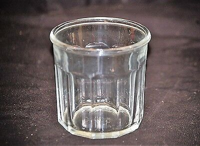 Vintage Style Clear Glass Flat Tumbler w Panel Sides Luminarc France Marked 500