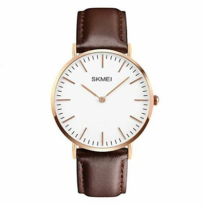Men's Leather-Strap Wrist Watches, Casual Classic Stainless Steel Quartz Luxury
