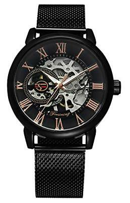 RSVOM Mens Automatic Watches, Mechanical Analogue Watch with Stainless Steel Mes