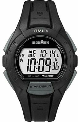 Timex Unisex Quartz Watch with LCD Dial Digital Display and Black Resin Strap TW