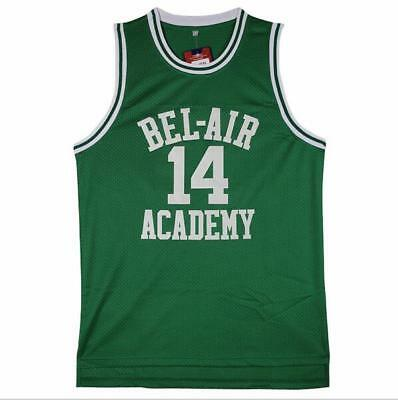 The Fresh Prince of Bel Air Academy Jersey Will Smith Basketball Jerseys GREEN