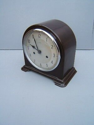 Enfield Bakelite dome top mantle clock working cleaned lubricated     B3
