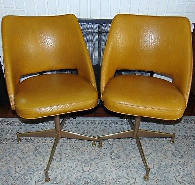 Brilliant 2 X Two 1960S Mid Century Modern Brody Vinyl Swivel Chairs Ocoug Best Dining Table And Chair Ideas Images Ocougorg