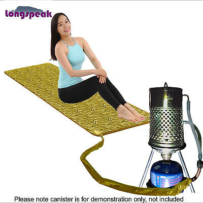 Portable Camping Gas Heater Heats Tent Overnight by 8oz Canister - Mini Pad