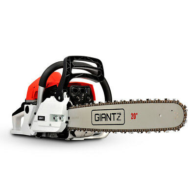 Giantz 62CC Commercial Petrol Chainsaw - Red and White