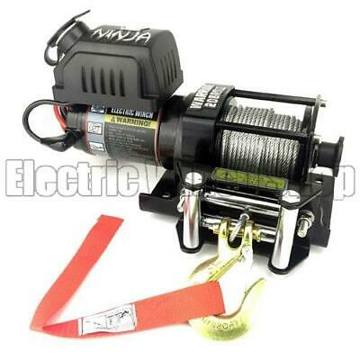 Warrior Ninja 2000 24v Electric Winch with Steel Cable