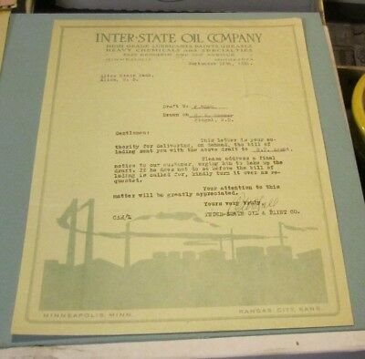 1921 Inter-State Oil and Paint Company Advertising Letter Minneapolis Minnesota