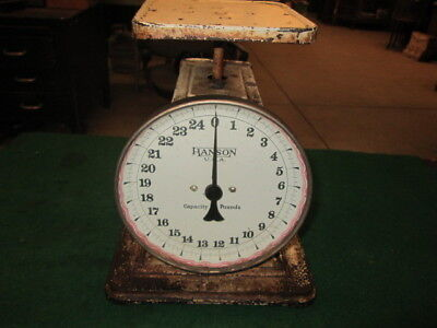 Old Hanson Kitchen Scale Iron Base Great Look Farm House Decor Patina